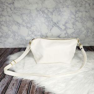 Steve madden white faux leather crossbody bag